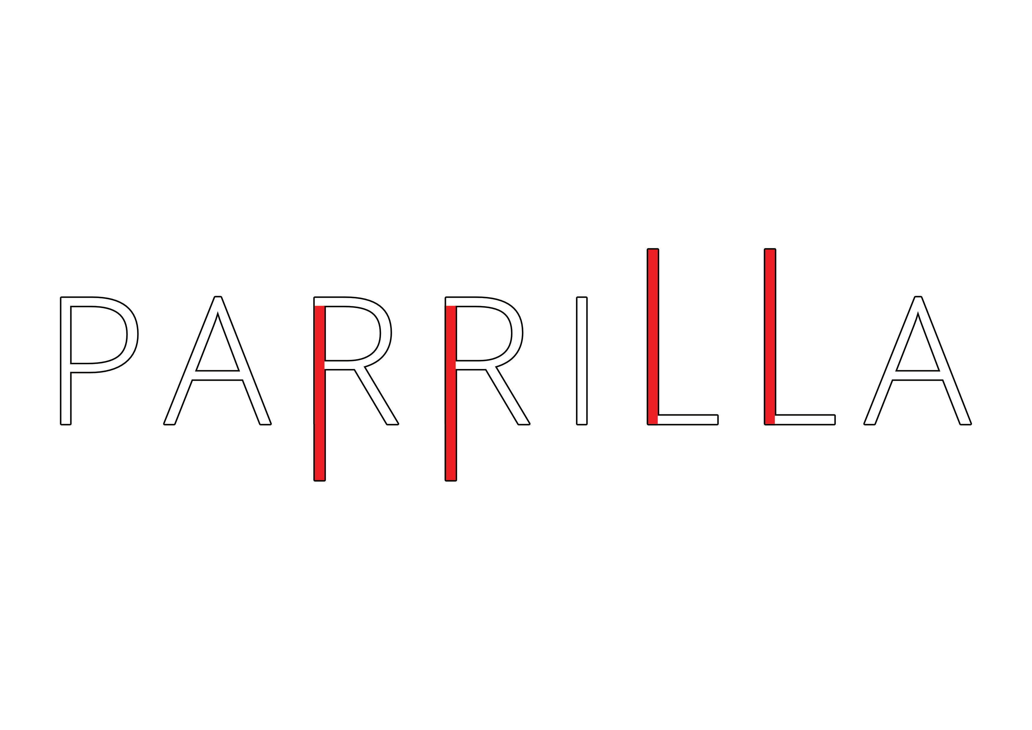 parrilla band logo since 2021 in white